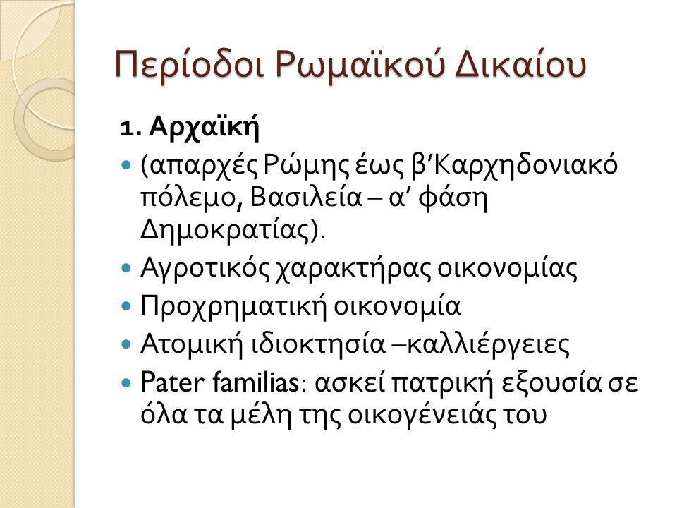 Περίοδοι Ρωμαϊκού Δικαίου