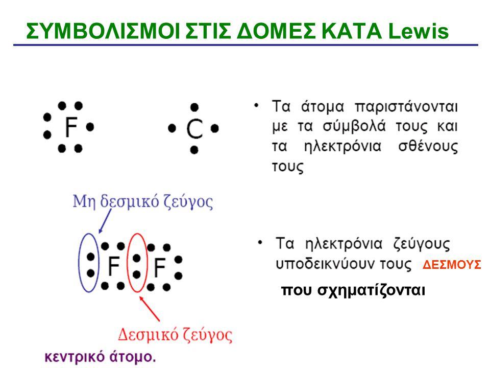 ΣΥΜΒΟΛΙΣΜΟΙ ΣΤΙΣ ΔΟΜΕΣ ΚΑΤA Lewis