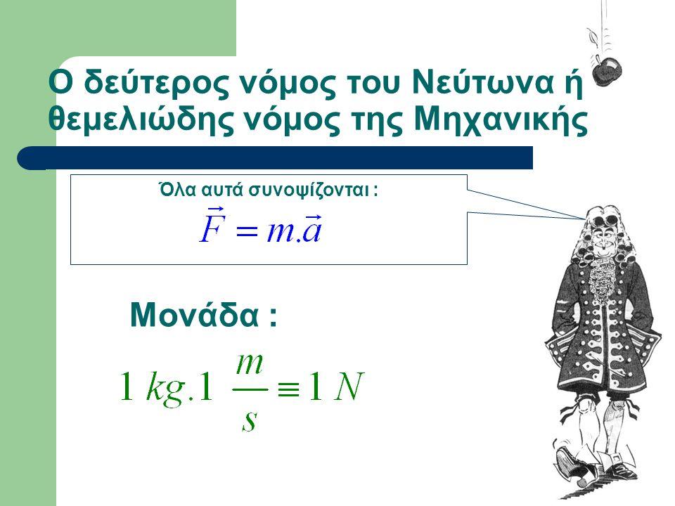 Ο δεύτερος νόμος του Νεύτωνα ή θεμελιώδης νόμος της Μηχανικής