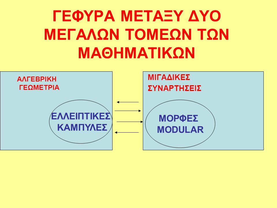 ΓΕΦΥΡΑ ΜΕΤΑΞΥ ΔΥΟ ΜΕΓΑΛΩΝ ΤΟΜΕΩΝ ΤΩΝ ΜΑΘΗΜΑΤΙΚΩΝ