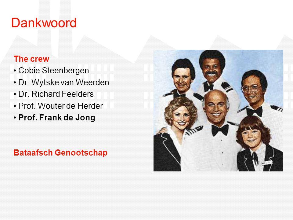 Dankwoord The crew Cobie Steenbergen Dr. Wytske van Weerden