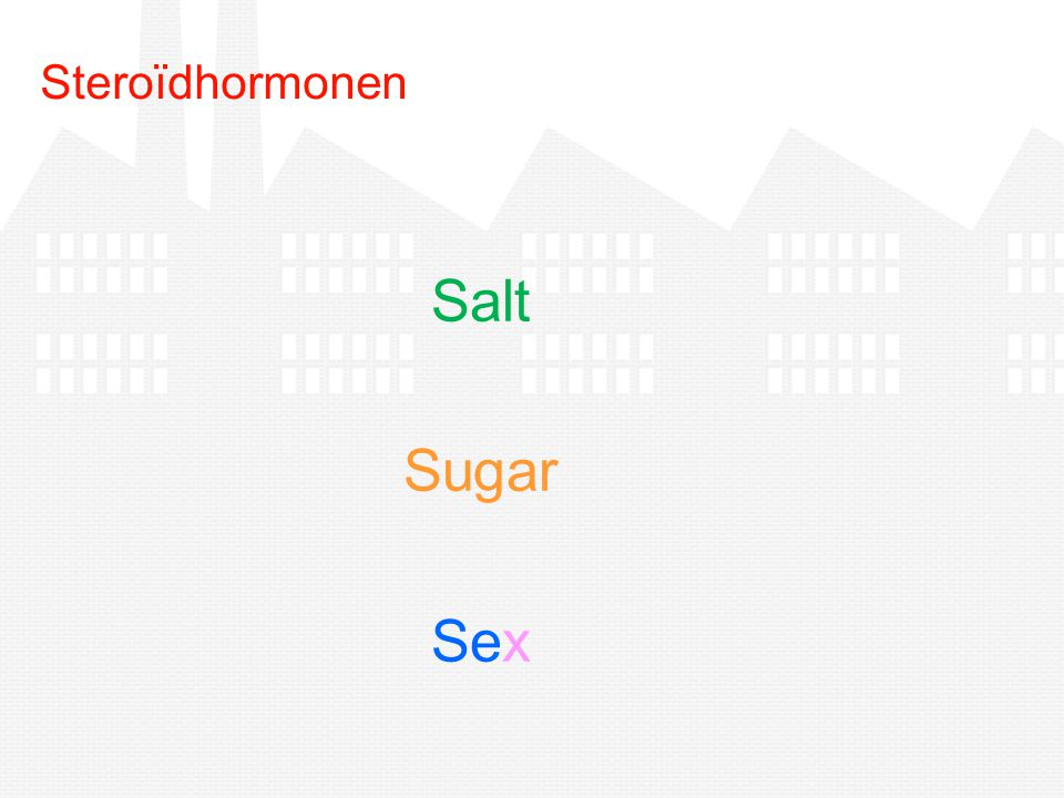Steroïdhormonen Salt Sugar Sex