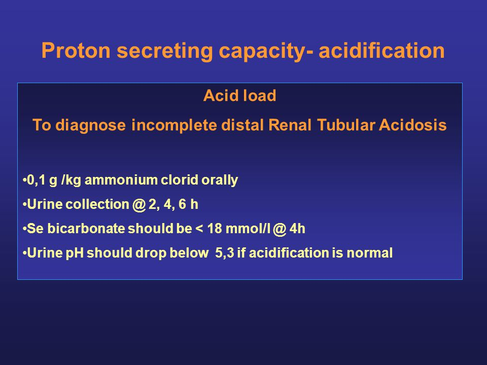 Proton secreting capacity- acidification