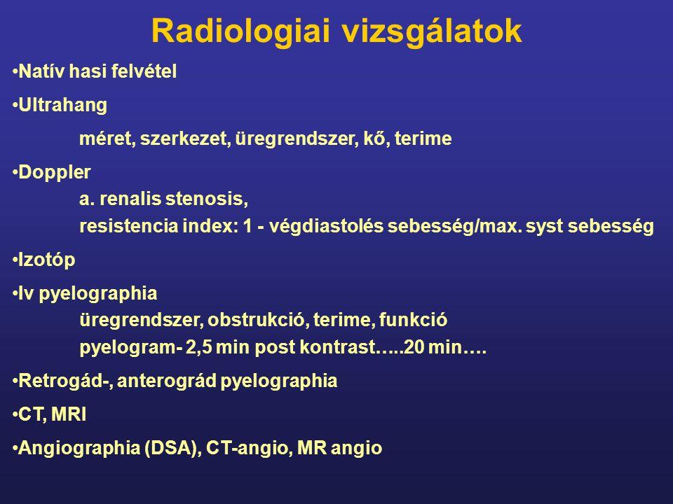 Radiologiai vizsgálatok