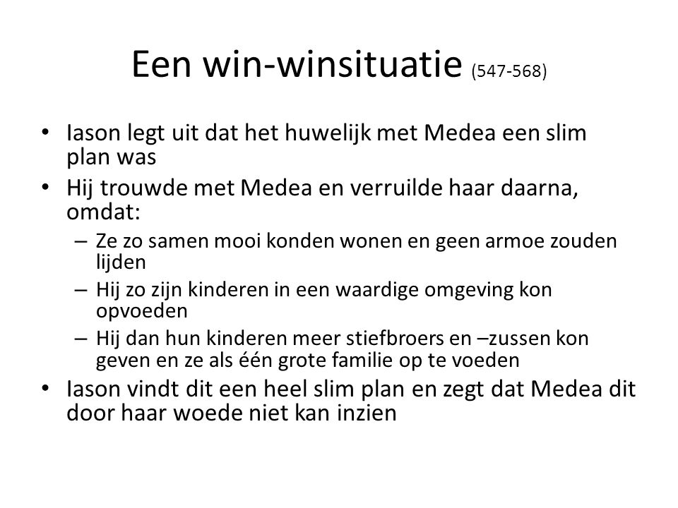 Een win-winsituatie ( )