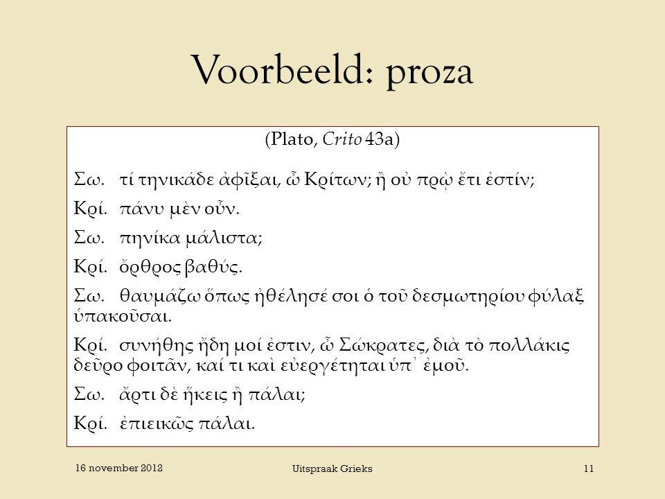 Voorbeeld: proza