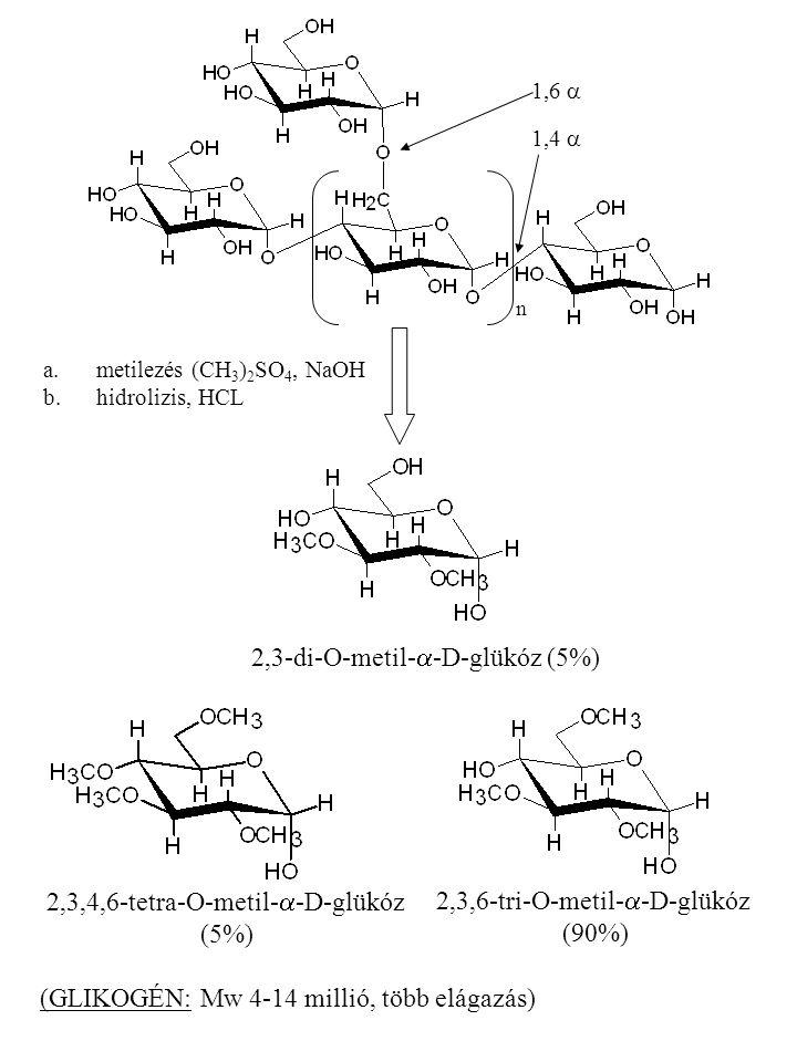 2,3-di-O-metil-a-D-glükóz (5%)