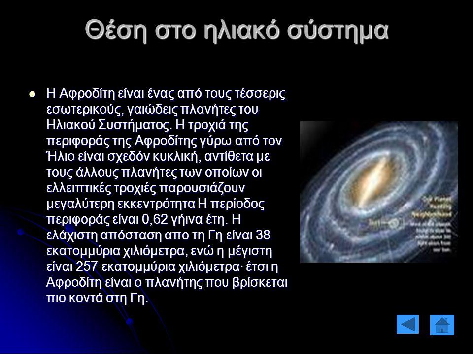 Θέση στο ηλιακό σύστημα