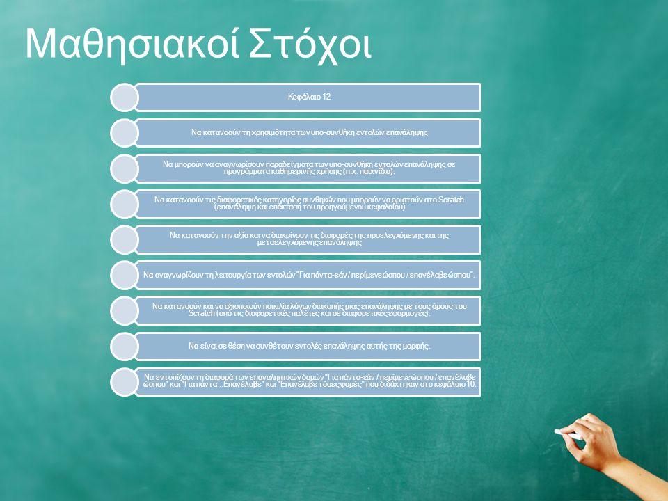 Μαθησιακοί Στόχοι Κεφάλαιο 12