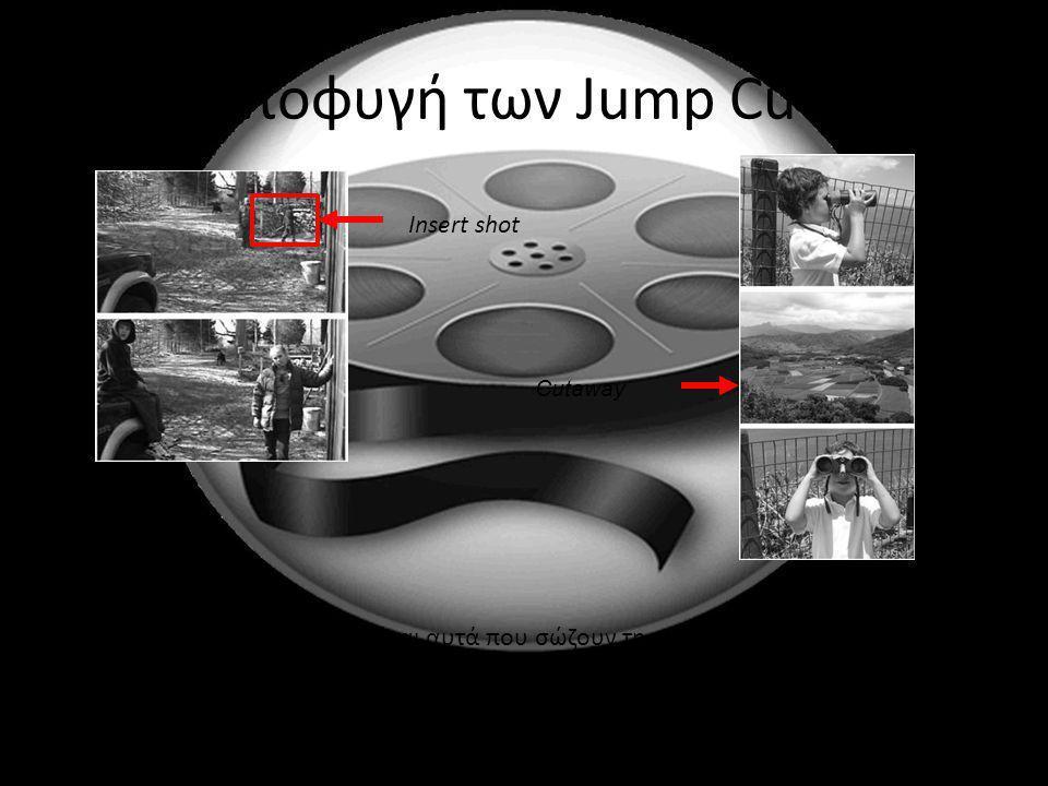Αποφυγή των Jump Cuts Insert shot
