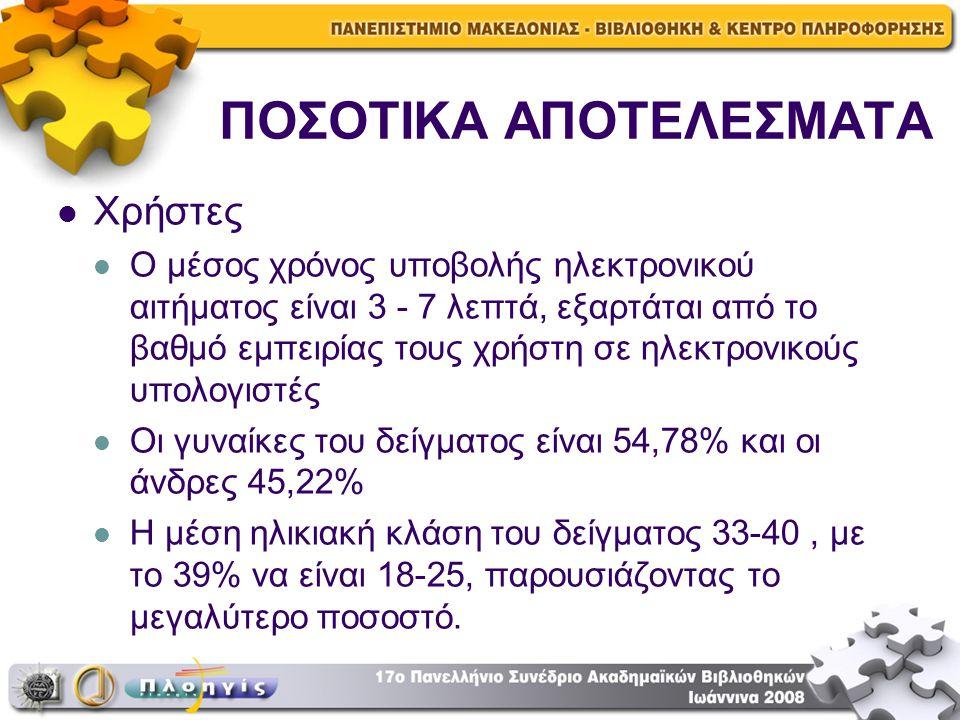 ΠΟΣΟΤΙΚΑ ΑΠΟΤΕΛΕΣΜΑΤΑ