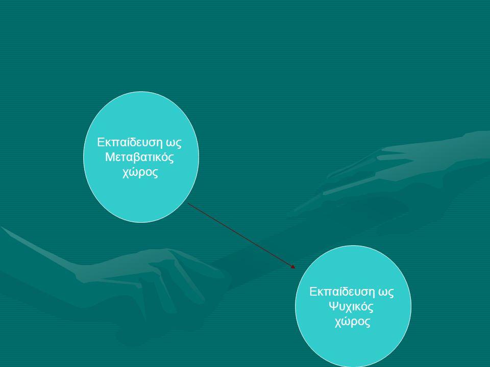 Εκπαίδευση ως Μεταβατικός χώρος Εκπαίδευση ως Μεταβατικός χώρος