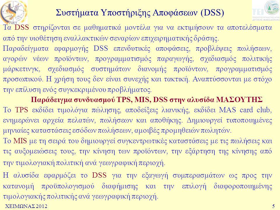 Συστήματα Υποστήριξης Αποφάσεων (DSS)