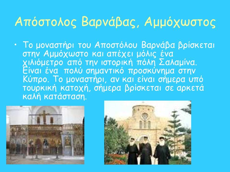 Απόστολος Βαρνάβας, Αμμόχωστος