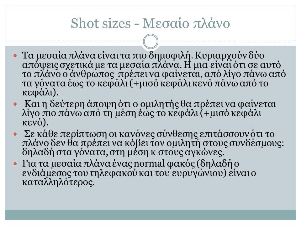 Shot sizes - Μεσαίο πλάνο