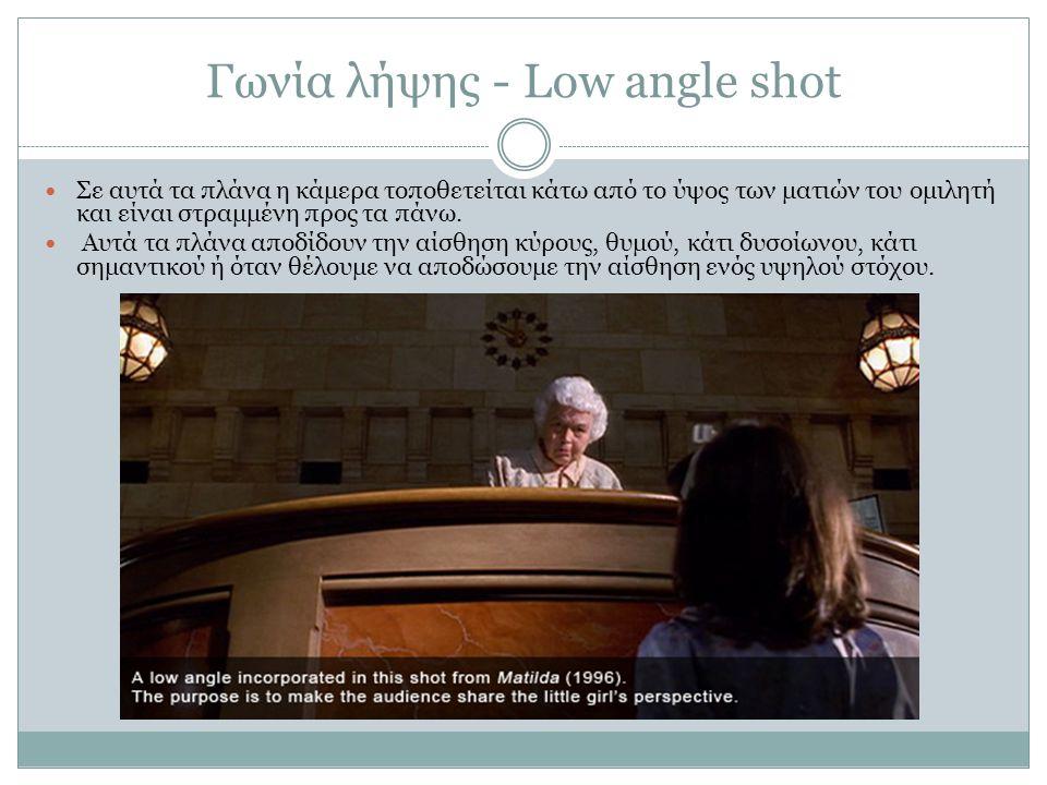 Γωνία λήψης - Low angle shot