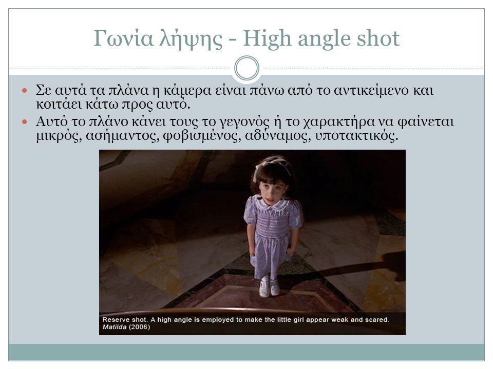 Γωνία λήψης - High angle shot