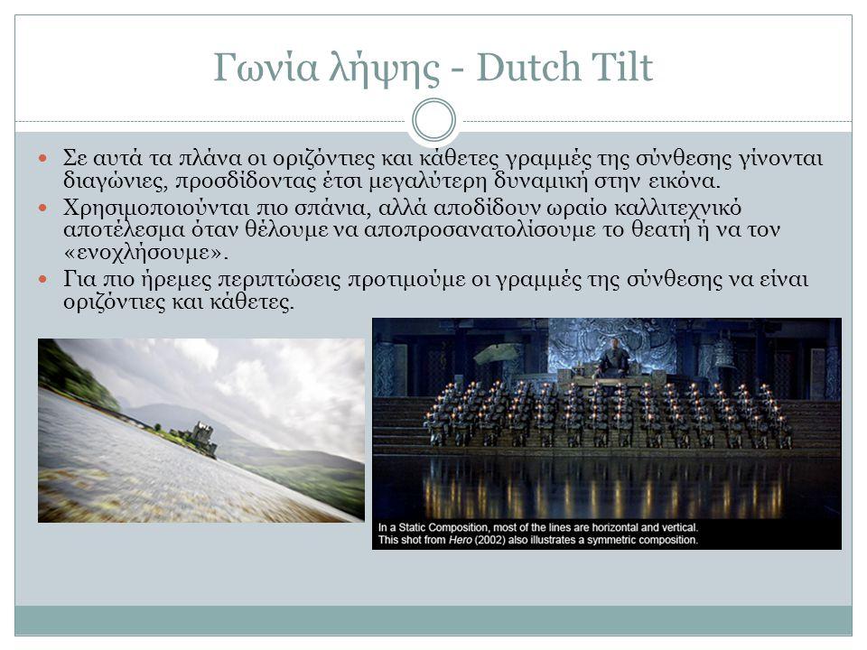 Γωνία λήψης - Dutch Tilt