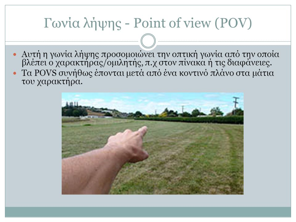 Γωνία λήψης - Point of view (POV)