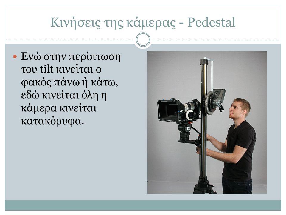 Κινήσεις της κάμερας - Pedestal