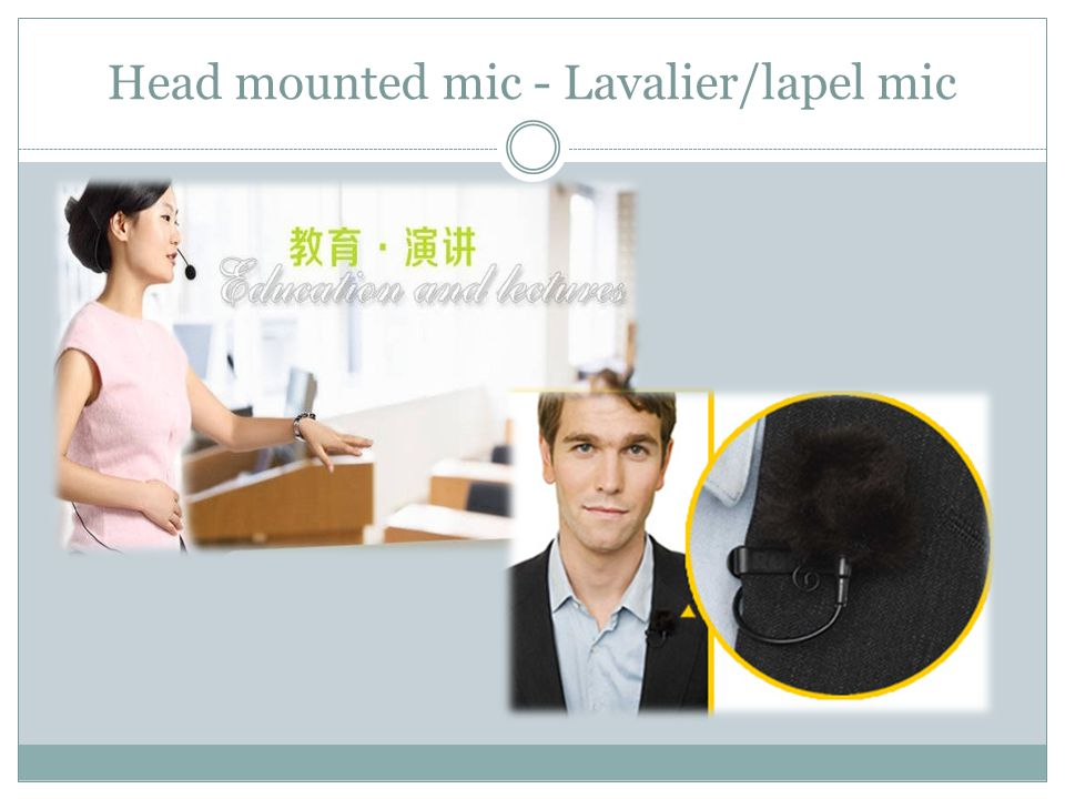 Head mounted mic - Lavalier/lapel mic
