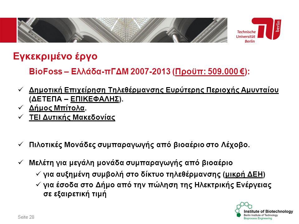 Εγκεκριμένο έργο BioFoss – Ελλάδα-πΓΔΜ 2007-2013 (Προϋπ: 509.000 €):