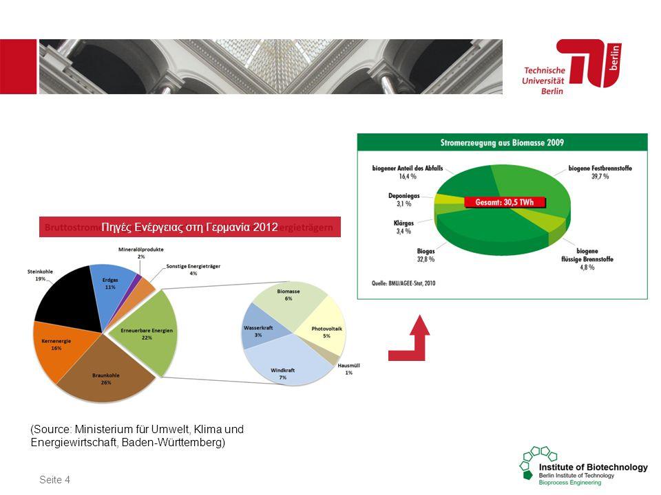 Πηγές Ενέργειας στη Γερμανία 2012