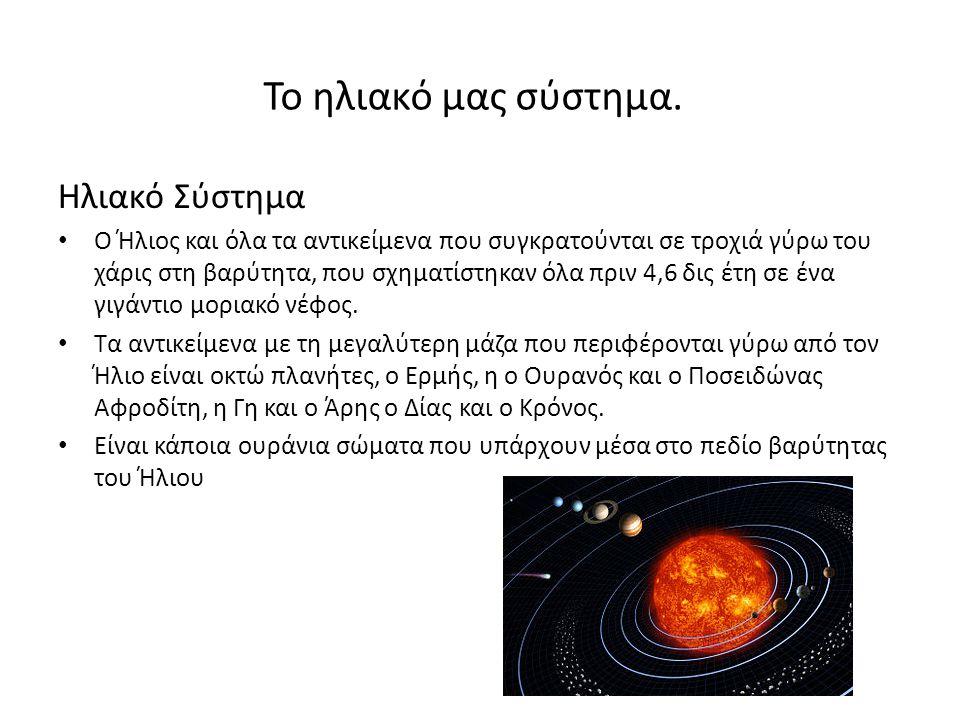 Το ηλιακό μας σύστημα. Ηλιακό Σύστημα