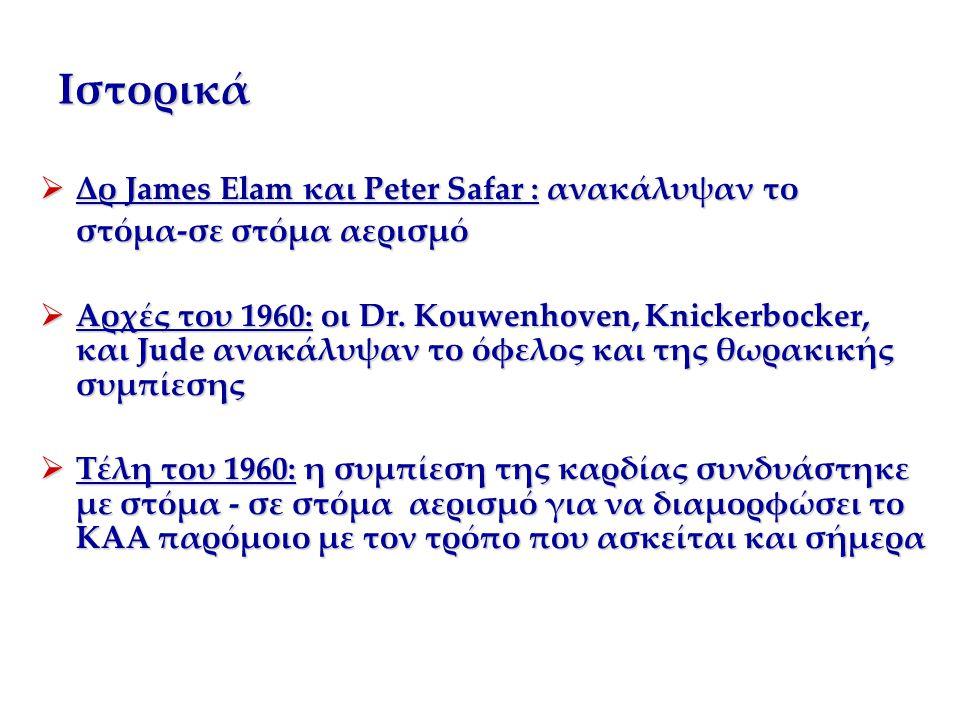 Ιστορικά Δρ James Elam και Peter Safar : ανακάλυψαν το