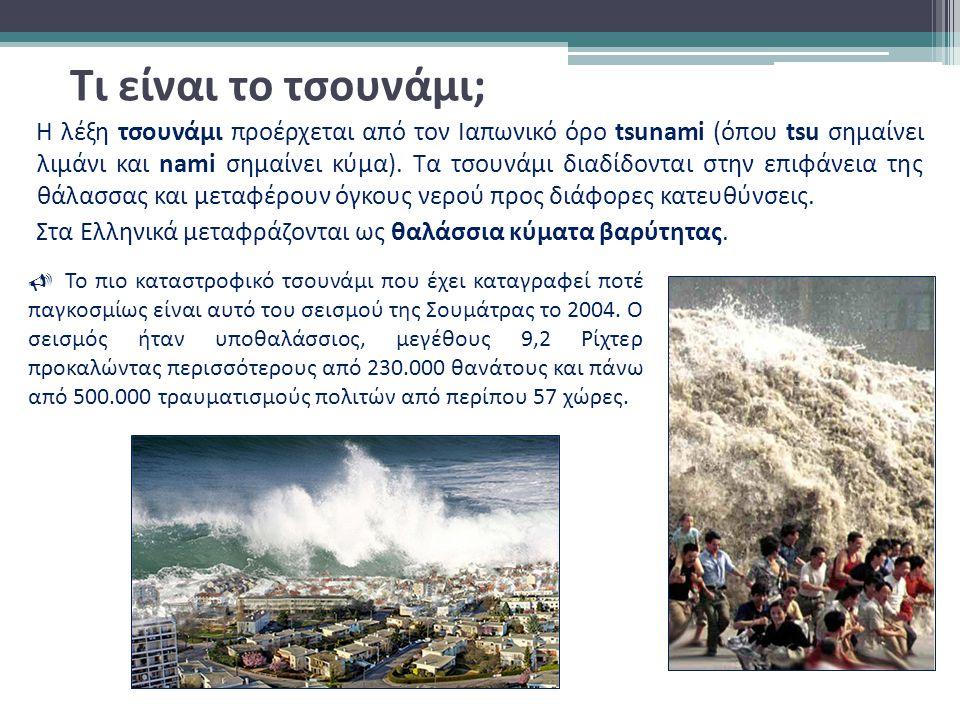 Τι είναι το τσουνάμι;