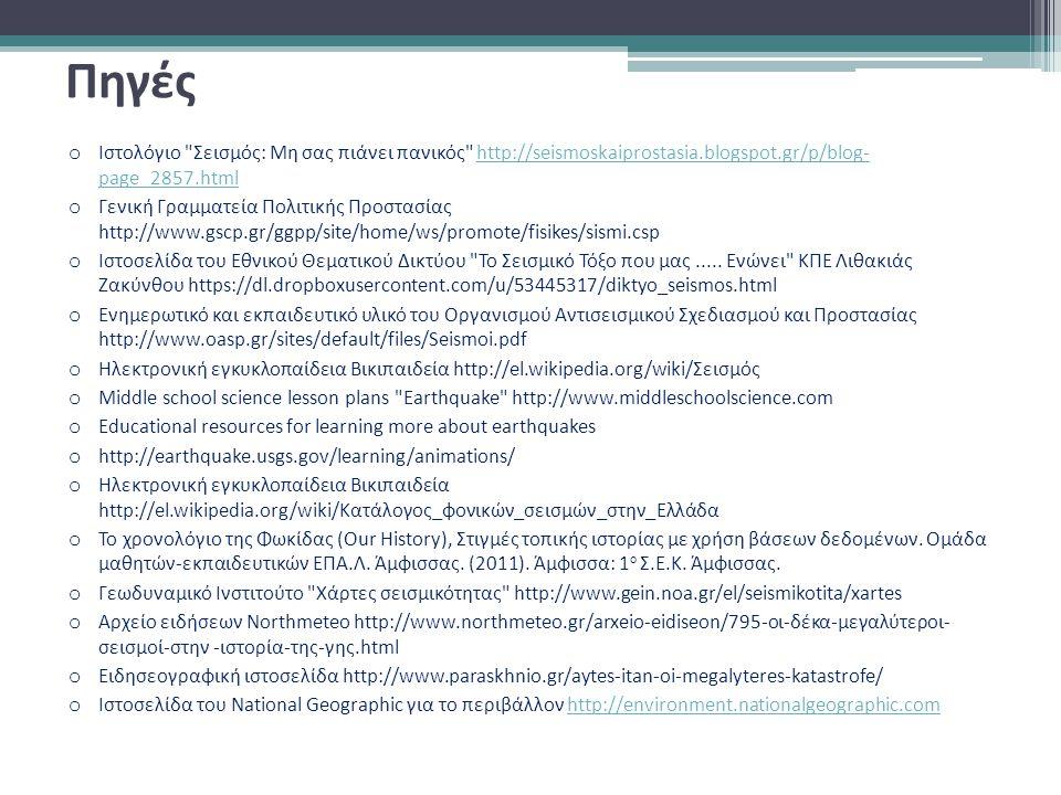 Πηγές Ιστολόγιο Σεισμός: Μη σας πιάνει πανικός http://seismoskaiprostasia.blogspot.gr/p/blog- page_2857.html.