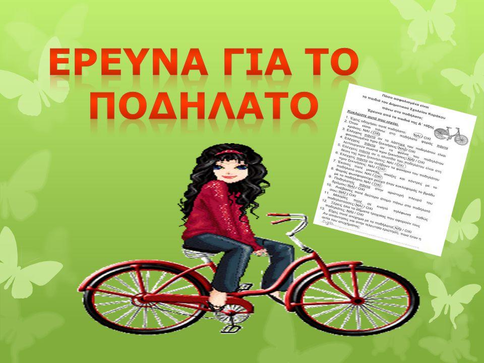Ερευνα Για το ποδηλατο