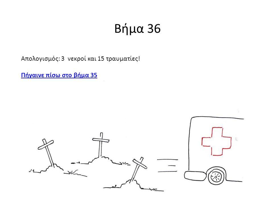 Βήμα 36 Απολογισμός: 3 νεκροί και 15 τραυματίες!