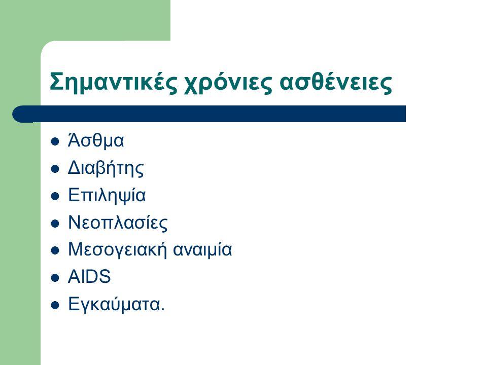 Σημαντικές χρόνιες ασθένειες