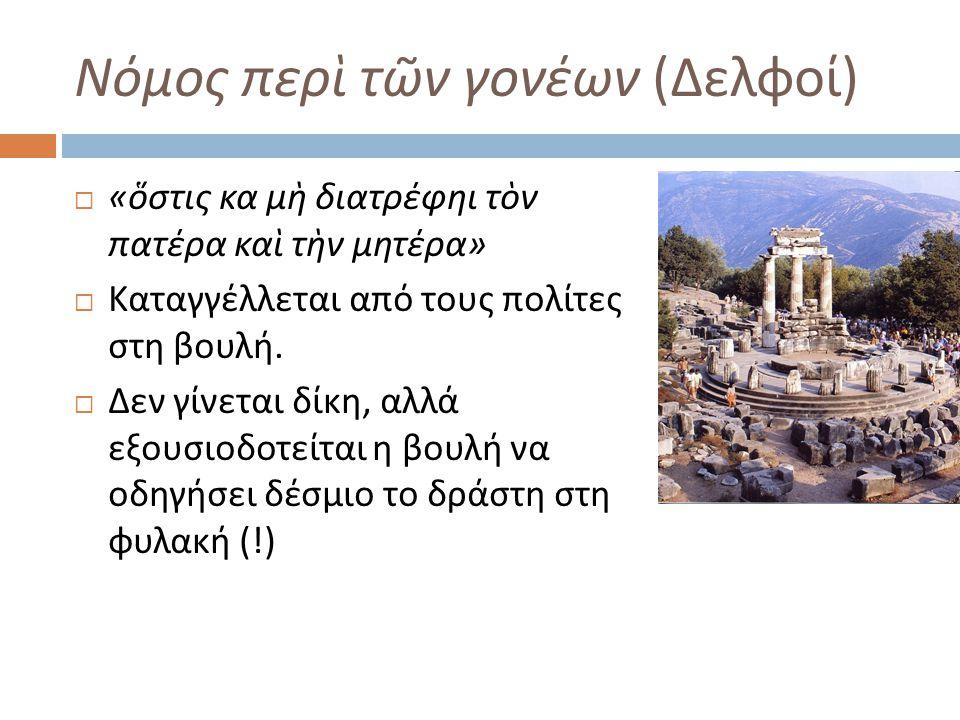 Νόμος περὶ τῶν γονέων (Δελφοί)