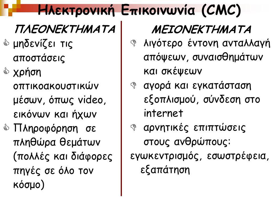 Ηλεκτρονική Επικοινωνία (CMC)