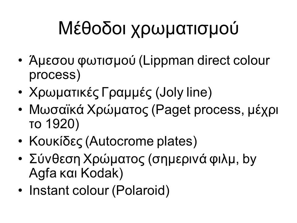 Μέθοδοι χρωματισμού Άμεσου φωτισμού (Lippman direct colour process)