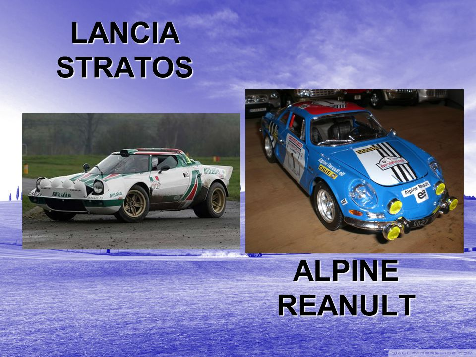 LANCIA STRATOS ALPINE REANULT