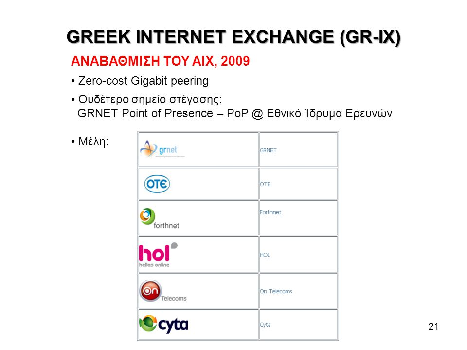GREEK INTERNET EXCHANGE (GR-IX)