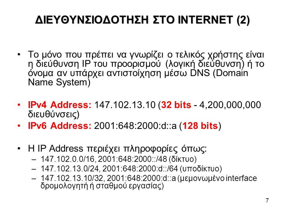 ΔΙΕΥΘΥΝΣΙΟΔΟΤΗΣΗ ΣΤΟ INTERNET (2)