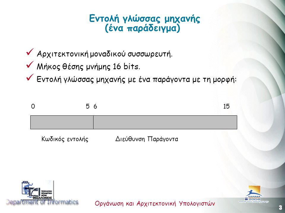 Εντολή γλώσσας μηχανής (ένα παράδειγμα)