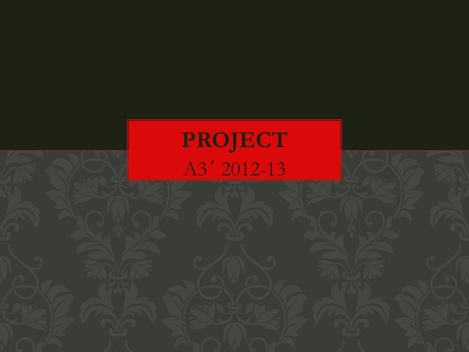 Project A3΄ 2012-13