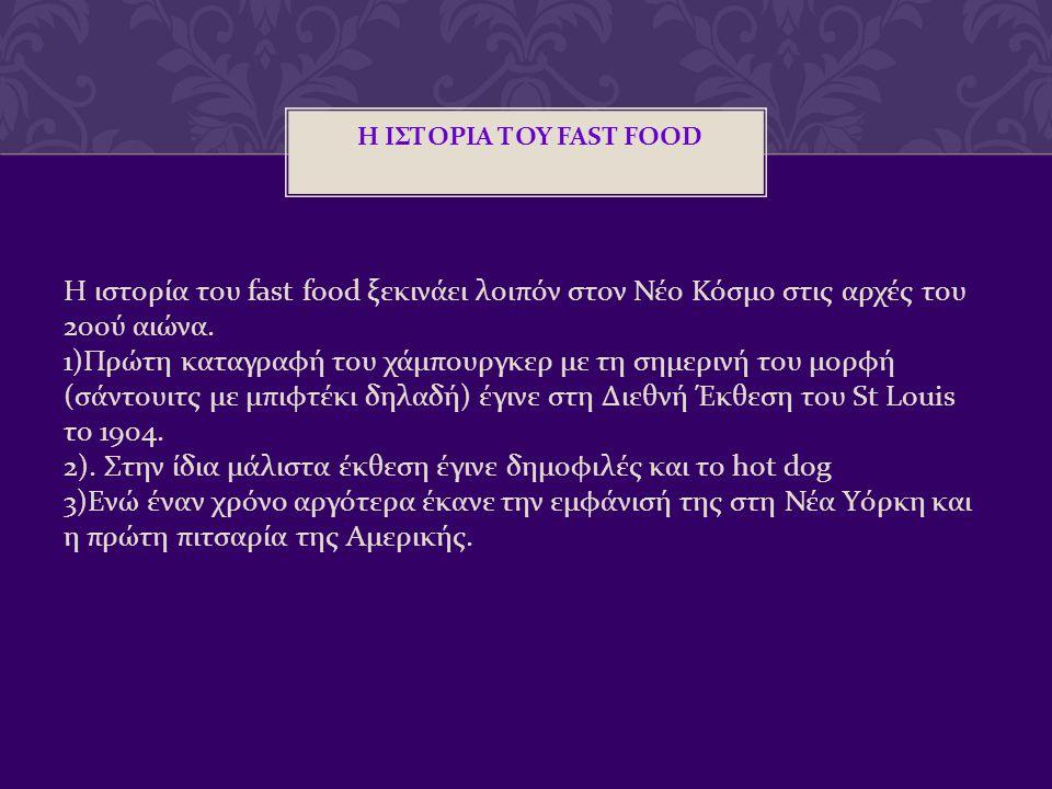Η ΙΣΤΟΡΙΑ ΤΟΥ FAST FOOD
