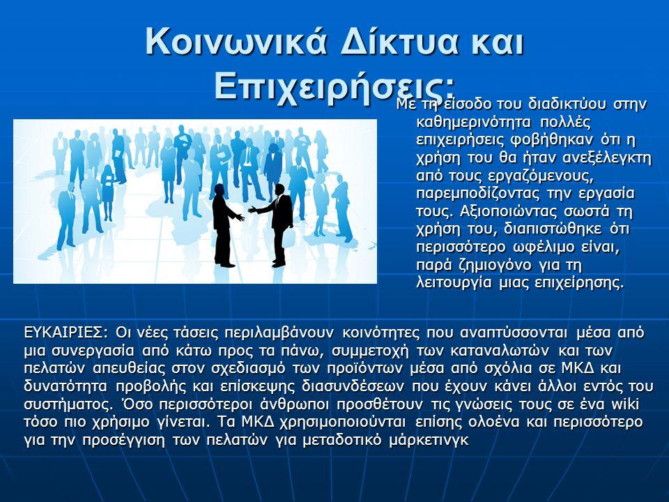 Κοινωνικά Δίκτυα και Επιχειρήσεις: