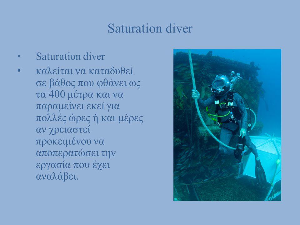 Saturation diver Saturation diver