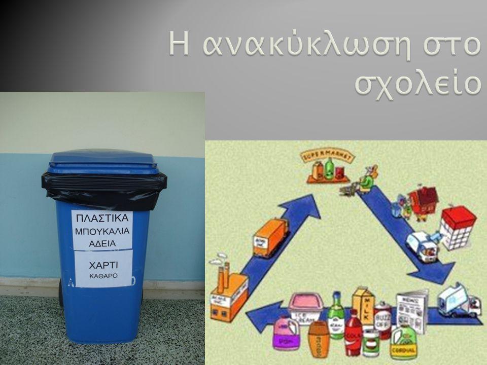 Η ανακύκλωση στο σχολείο