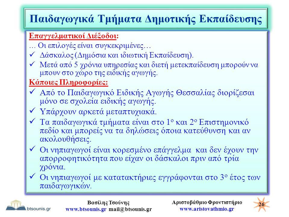 Παιδαγωγικά Τμήματα Δημοτικής Εκπαίδευσης