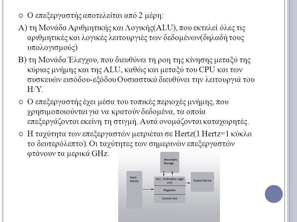 Ο επεξεργαστής αποτελείται από 2 μέρη: