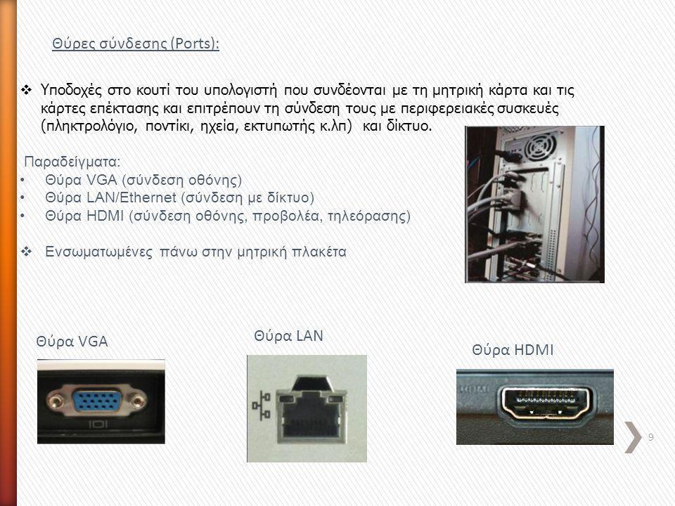 Θύρες σύνδεσης (Ports):