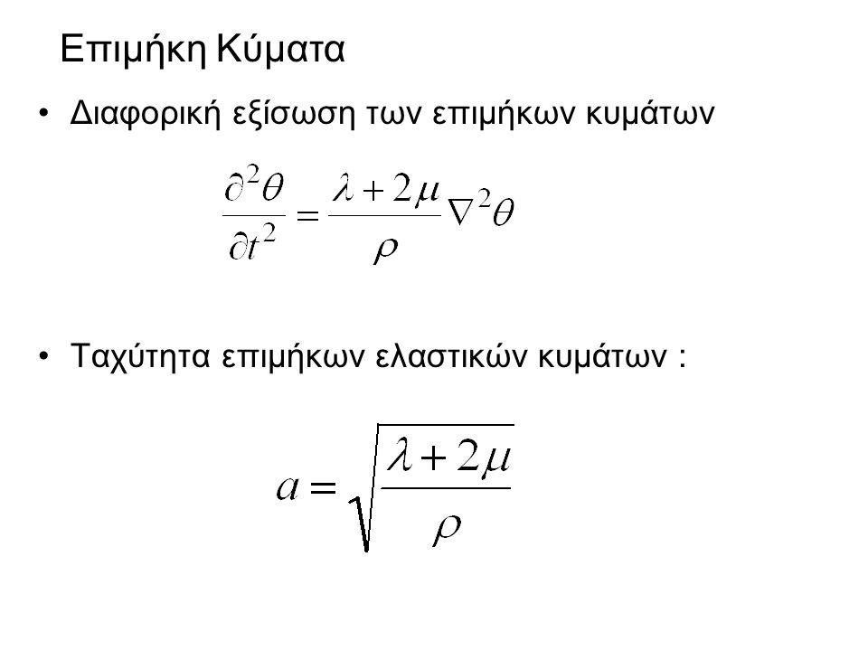 Επιμήκη Κύματα Διαφορική εξίσωση των επιμήκων κυμάτων